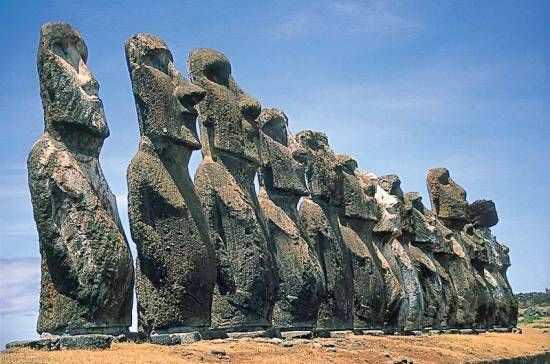 Моаи каменные статуи