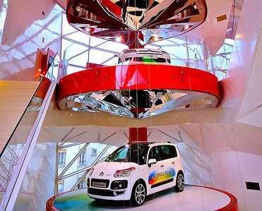 Шоу-рум автосалона Citroen в Париже