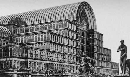«Хрустальный дворец» на выставке в Лондоне. 1851